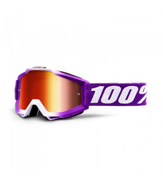 Accuri framboise offroad goggle + mirror red lens 100%