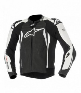 Gp tech V2 giacca in pelle tech-air compatibile nero bianco Alpinestars