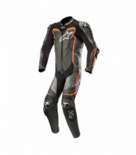 Gp plus camo 1pc suit tuta in pelle racing nero rosso Alpinestars
