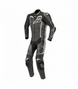 Gp plus camo 1pc suit tuta in pelle racing nero bianco Alpinestars