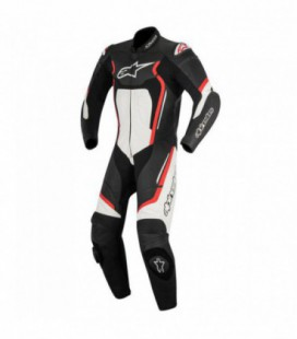 Motegi V2 1pc suit tuta in pelle racing nero rosso Alpinestars