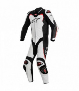 Gp pro 1pc suit tech-air compatibile tuta in pelle racing bianco Alpinestars