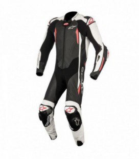 Gp tech V2 1pc suit tech-air compatibile tuta in pelle racing nero Alpinestars