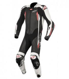 Gp tech V2 1pc suit tech-air compatibile tuta in pelle racing nero bianco Alpinestars