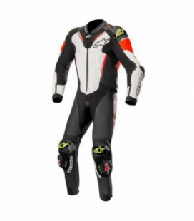 Atem V3 suit 1pc tuta in pelle racing nero bianco Alpinestars