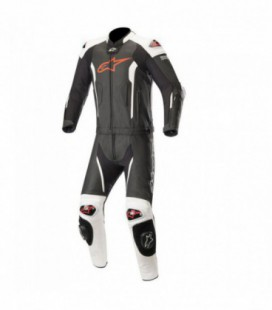 Missile suit 2pc tuta in pelle tech-air compatibile nero bianco Alpinestars
