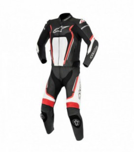 Motegi V2 2pc suit Tuta di pelle nero bianco Alpinestars