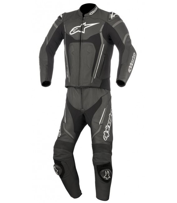 Motegi V2 2pc suit Tuta di pelle nero antracite Alpinestars