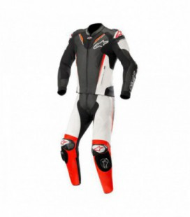 Atem v3 suit 2pc Tuta in pelle nero bianco Alpinestars