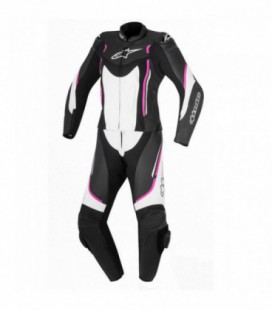 Stella Motegi V2 2pc suit tuta in pelle donna nero bianco Alpinestars