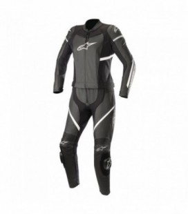 Stella Kira 2pc suit tuta in pelle donna nero bianco Alpinestars