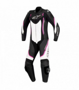 Stella Motegi V2 1pc suit tuta in pelle racing donna nero bianco Alpinestars