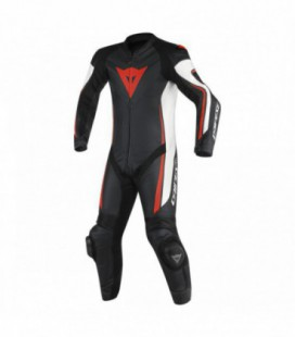 Racing suit Assen 1pc perforated white black red fluo Dainese