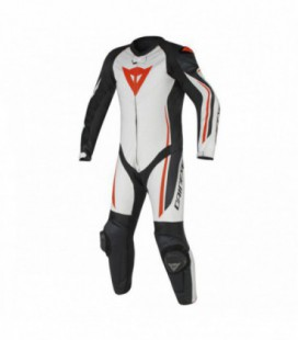 Racing suit Assen 1pc perforated black white red fluo Dainese