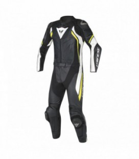 Racing suit 2pcs Avro D2 black white yellow fluo Dainese