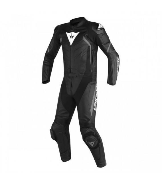 Racing suit 2pcs Avro D2 short/tall black anthracite Dainese