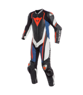 Racing suit Kyalami 1pc perforated black white red fluo Dainese