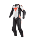 Racing suit Laguna Seca 4 1pc perforated black white red fluo Dainese