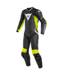 Racing suit Laguna Seca 4 1pc perforated black yellow fluo white Dainese