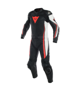 Racing suit 2pcs Assen 2pcs black white red fluo Dainese