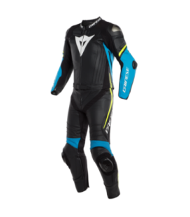 Racing suit 2pcs Laguna Seca 4 black blue yellow fluo Dainese