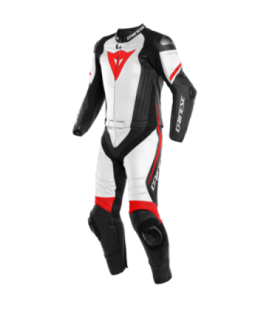 Racing suit 2pcs Laguna Seca 4 black matt white red Fluo Dainese
