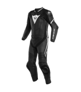 Racing suit 2pcs Laguna Seca 4 perforated black matt white Dainese