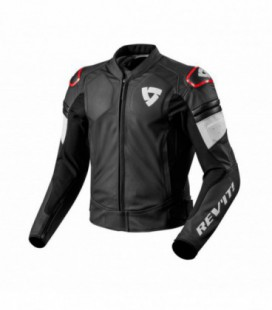 Leather jacket Akira black red