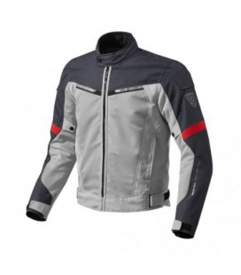 Jacket Airwave 2 silver red Rev'it