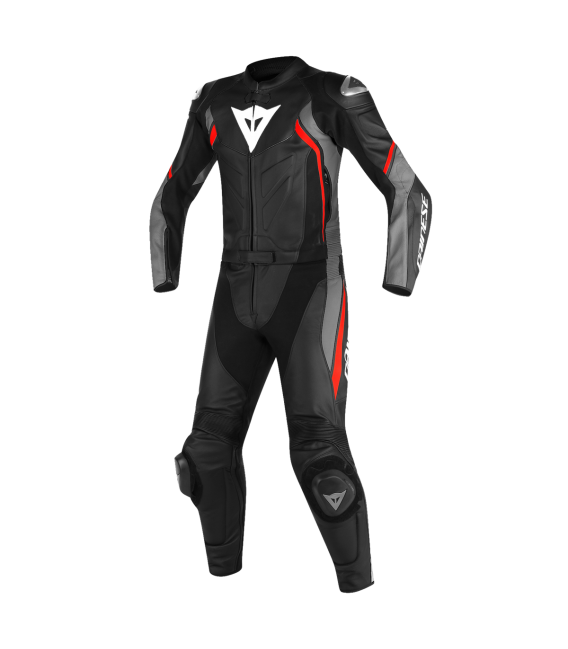 Racing suit 2pcs Avro D2 black matt grey red Dainese