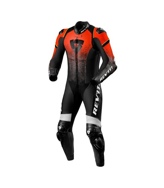 Racing suit 1pcs Quantum red fluo black Rev'it