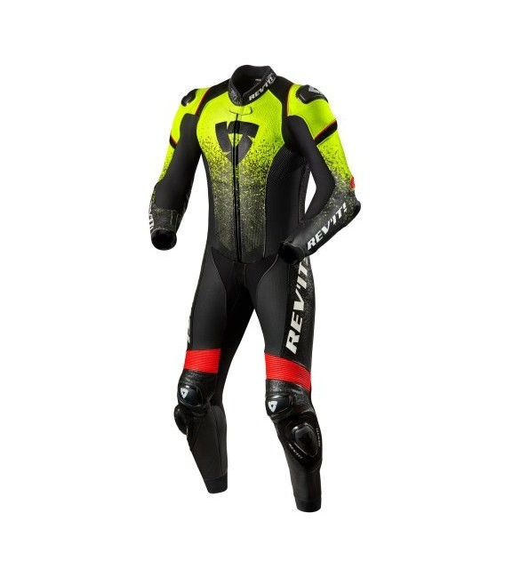 Racing suit 1pcs Quantum yellow neon black Rev'it