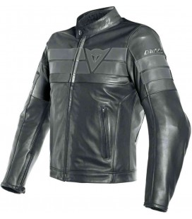 Leather jacket 8 Track perforated black Dainese
