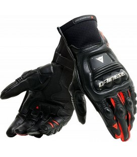 Gloves Steel pro in black red fluo Dainese