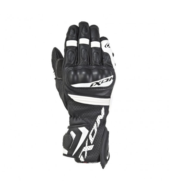 RS Tempo air leather gloves black white Ixon