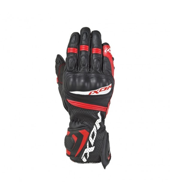 RS Tempo air leather gloves black red Ixon