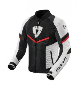 Rev'it Arc Air | Sporty men's jacket in White-Red fabric