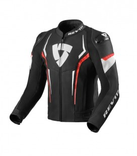 Rev'it | Versatile sports jacket for touring Glide Black-Neon Red