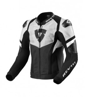 Rev'it | Hyperspeed Air perforated leather sports jacket Black-White
