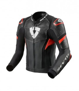 Rev'it | Top-of-the-range sports jacket in Hyperspeed Pro Black-Neon Red leather