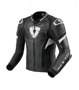 Rev'it | Top-of-the-range sports jacket in Black-White Hyperspeed Pro leather