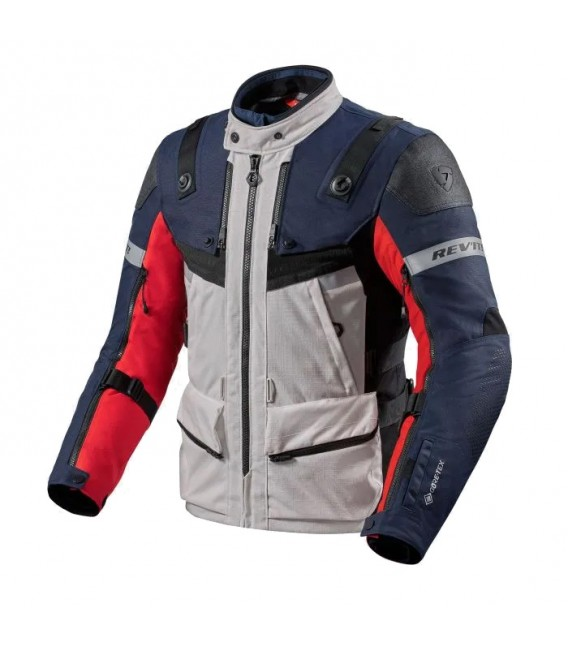 Rev'it | Versatile jacket for adventure travel in all climates Defender 3 GTX - Silver-Anthracite